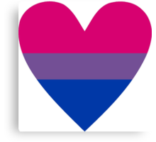 Bisexual heart Canvas Print