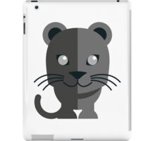 Cute black cartoon panther iPad Case/Skin