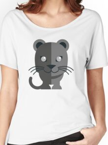 Cute black cartoon panther Women's Relaxed Fit T-Shirt