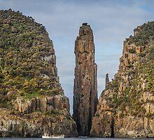 Tasman Island Totem Pole Tasmania by Russell Charters