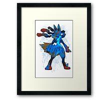 Pokemon - Mega evolution , Lucario ! Framed Print
