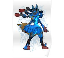 Pokemon - Mega evolution , Lucario ! Poster