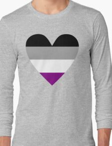 Asexual heart Long Sleeve T-Shirt
