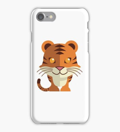 Smiling funny cartoon tiger iPhone Case/Skin
