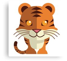 Smiling funny cartoon tiger Canvas Print