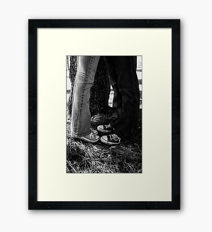 Kicks Framed Print