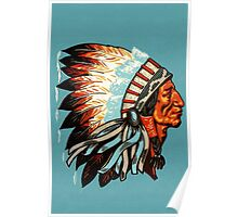 American Indian Chief Profile Poster