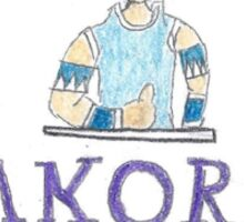 Dexter Manning Makora's mask Sticker