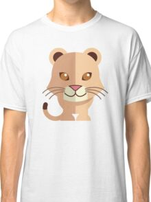 Cute female cartoon lion Classic T-Shirt