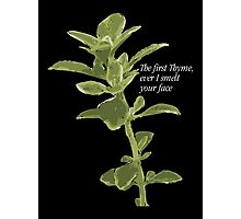 The first Thyme... Photographic Print