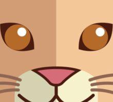 Cute male cartoon lion Sticker
