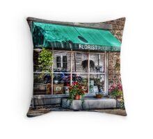 The Florist Shop Throw Pillow
