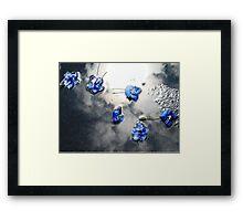 Fallen Delphiniums - Series 1 Framed Print