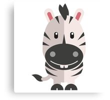 Adorable striped cartoon zebra Canvas Print