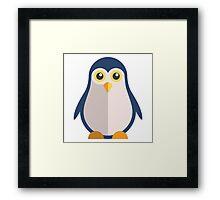 Cute cartoon penguin standing Framed Print