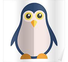 Cute cartoon penguin standing Poster