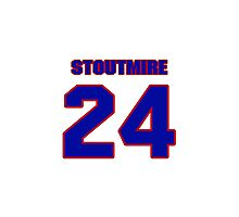 National football player Omar Stoutmire jersey 24 Photographic Print