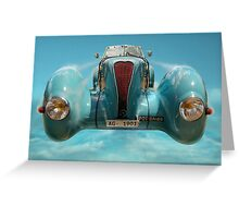 Vintage Sky Car Greeting Card
