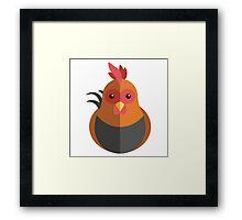 Cute cartoon rooster Framed Print