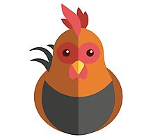 Cute cartoon rooster Photographic Print