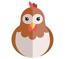 Cute cartoon hen Photographic Print