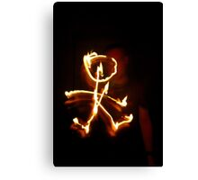 Firey Stickman Canvas Print