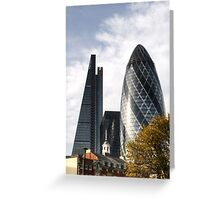 City of London Skyline Greeting Card
