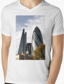 City of London Skyline Mens V-Neck T-Shirt