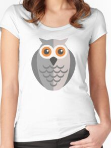Friendly cartoon owl Women's Fitted Scoop T-Shirt