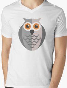 Friendly cartoon owl Mens V-Neck T-Shirt