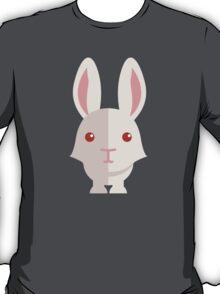 Funny white cartoon rabbit T-Shirt