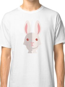 Funny white cartoon rabbit Classic T-Shirt