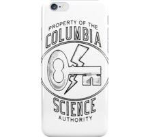 Columbia Science Authority (black) iPhone Case/Skin