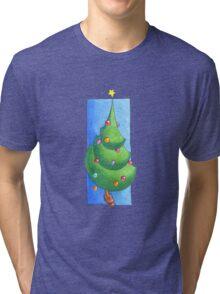 Christmas Tree White Tri-blend T-Shirt