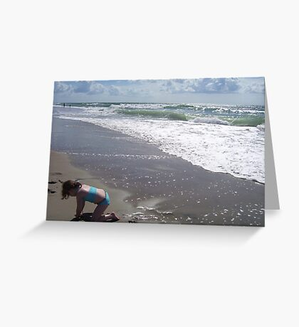 The Waves Roll Greeting Card