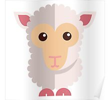Cute little cartoon sheep Poster