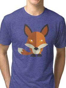 Friendly cartoon fox Tri-blend T-Shirt