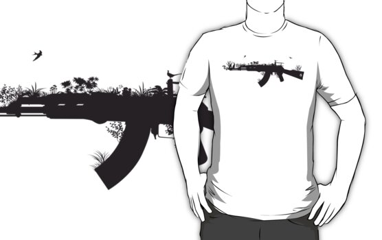 Ak47 Love & Peace by Plastica Tees