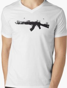 Ak47 Love & Peace Mens V-Neck T-Shirt