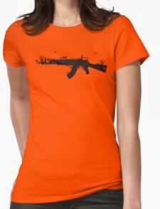 Ak47 Love & Peace Womens Fitted T-Shirt