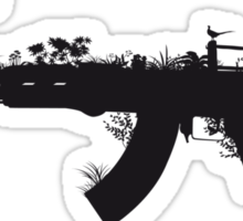 Ak47 Love & Peace Sticker