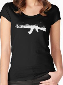 Ak47 Love & Peace (black) Women's Fitted Scoop T-Shirt