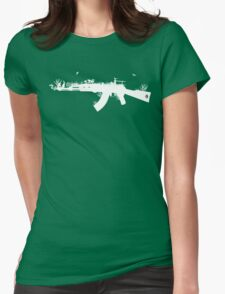 Ak47 Love & Peace (black) Womens Fitted T-Shirt