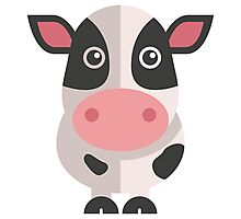 Funny cartoon cow Photographic Print
