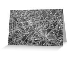 Ice Pattern Greeting Card