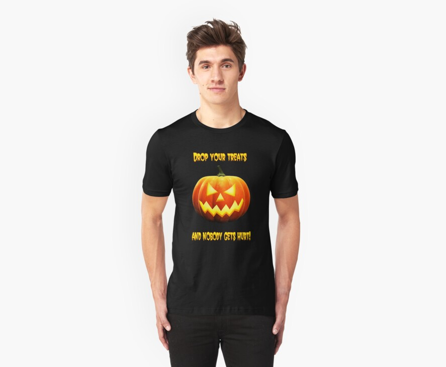 Halloween pumpkin shirt by Derivatix
