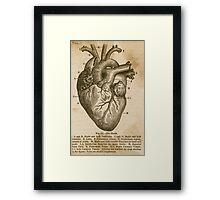 Anatomy of the Heart Framed Print