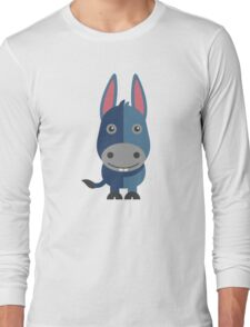 Cute cartoon donkey Long Sleeve T-Shirt
