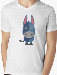Cute cartoon donkey Mens V-Neck T-Shirt