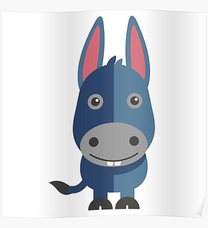 Cute cartoon donkey Poster